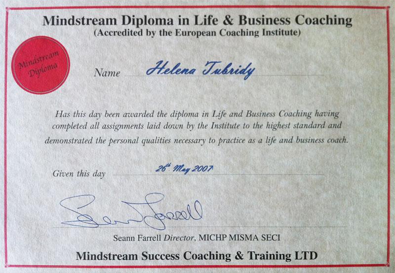 Helena Tubridy Professional Qualifications   Helena Tubridy
